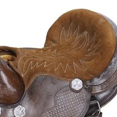 Sela para Cavalo Australiana Marrom Bordada Assento 15'' Bronc-Steel 23392