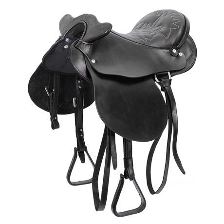 Sela para Cavalo Australiana Tradicional de Cabeça 15'' Preta Bronc-Steel 25831