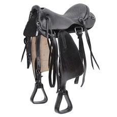 "Sela para Cavalo Preta Australiana Tradicional Assento 15"" Bronc-Steel 24087"