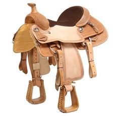Sela Profissional de Laço para Cavalo Natural com Óleo 15,5'' Pro Horse 29667