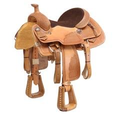 Sela Profissional de Laço para Cavalo Natural com Óleo 15,5'' Pro Horse 29668
