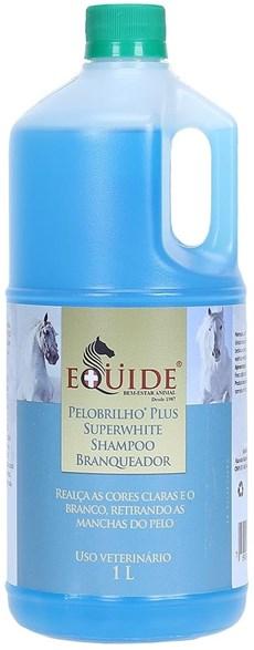 Shampoo Branqueador para Cavalo Equide 1L Pelo Brilho Plus Super White 20178