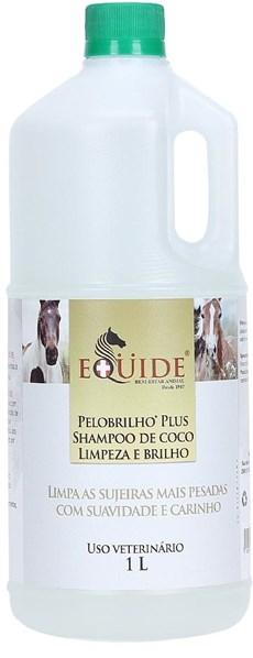 Shampoo de Coco para Cavalo Pelo Brilho Plus 1L Equide 20179