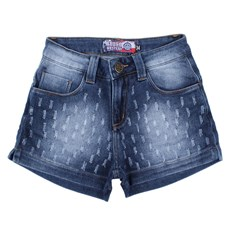 Short Feminino Jeans Destroyed Rodeo Western 24703