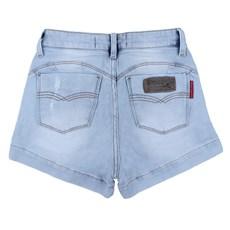 Short Jeans Desfiado Delavê Rodeo Western Feminino 24702