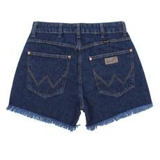 Short Jeans Feminino Cós Alto Azul Original Wrangler 28393