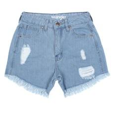 Short Jeans Feminino Cós Alto Delavê Original Wrangler 28392