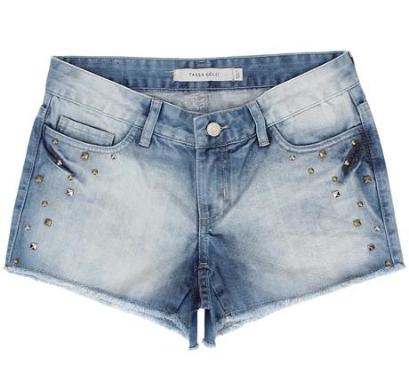 Short Jeans Feminino Delavê Tassa Gold 21378