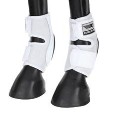 Skid Boot Baixo para Cavalo Fabricado em Couro e Neoprene Branco - Rodeo West 18280
