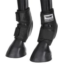 Skid Boot Baixo para Cavalo Fabricado em Couro e Neoprene Preto - Rodeo West 18278