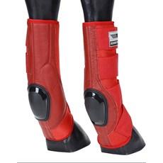 Skid Boot Longo para Cavalo Rodeo West Vermelho 21247