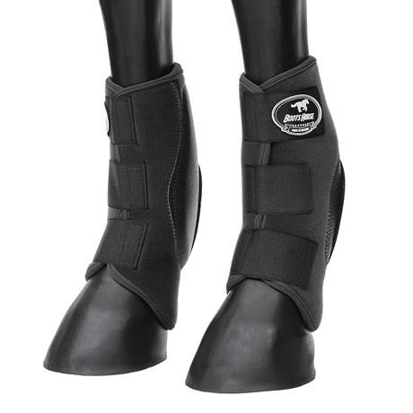 Skid Boot Médio para Cavalo Preto Boots Horse 29142