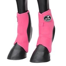 Skid Boot Médio para Cavalo Rosa Boots Horse 29144