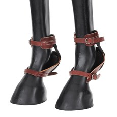 Skid Boot para Cavalos em Couro Rodeo West 22745