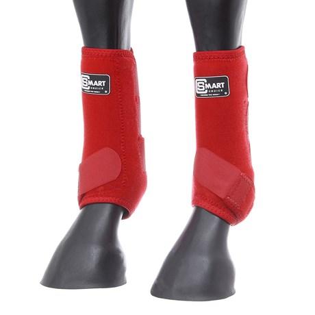 Splint Boot para Cavalo de Neoprene Vermelho Smart Choice 28126