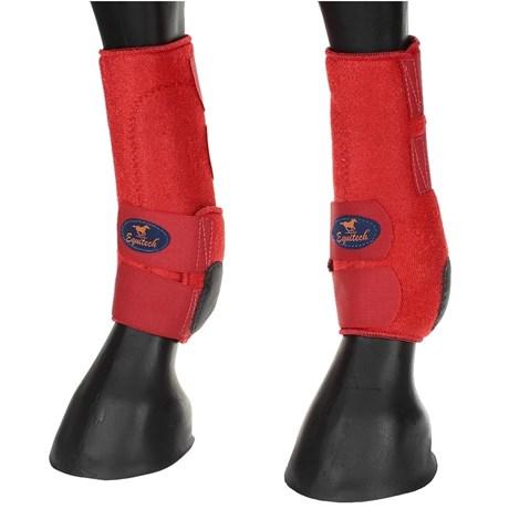 Splint Boot Traseiro Equitech em Neoprene Vermelho 15691