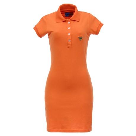 Vestido Gola Polo Feminino Laranja Smith Brothers 27537